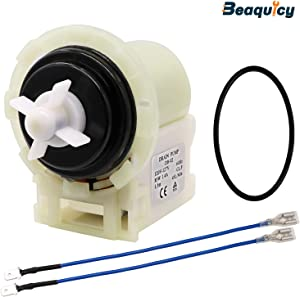 8540024 Front Load Washer Drain Pump & Motor Assembly by Beaquicy - Replacement for Whirlpool Kenmore Washing Machine