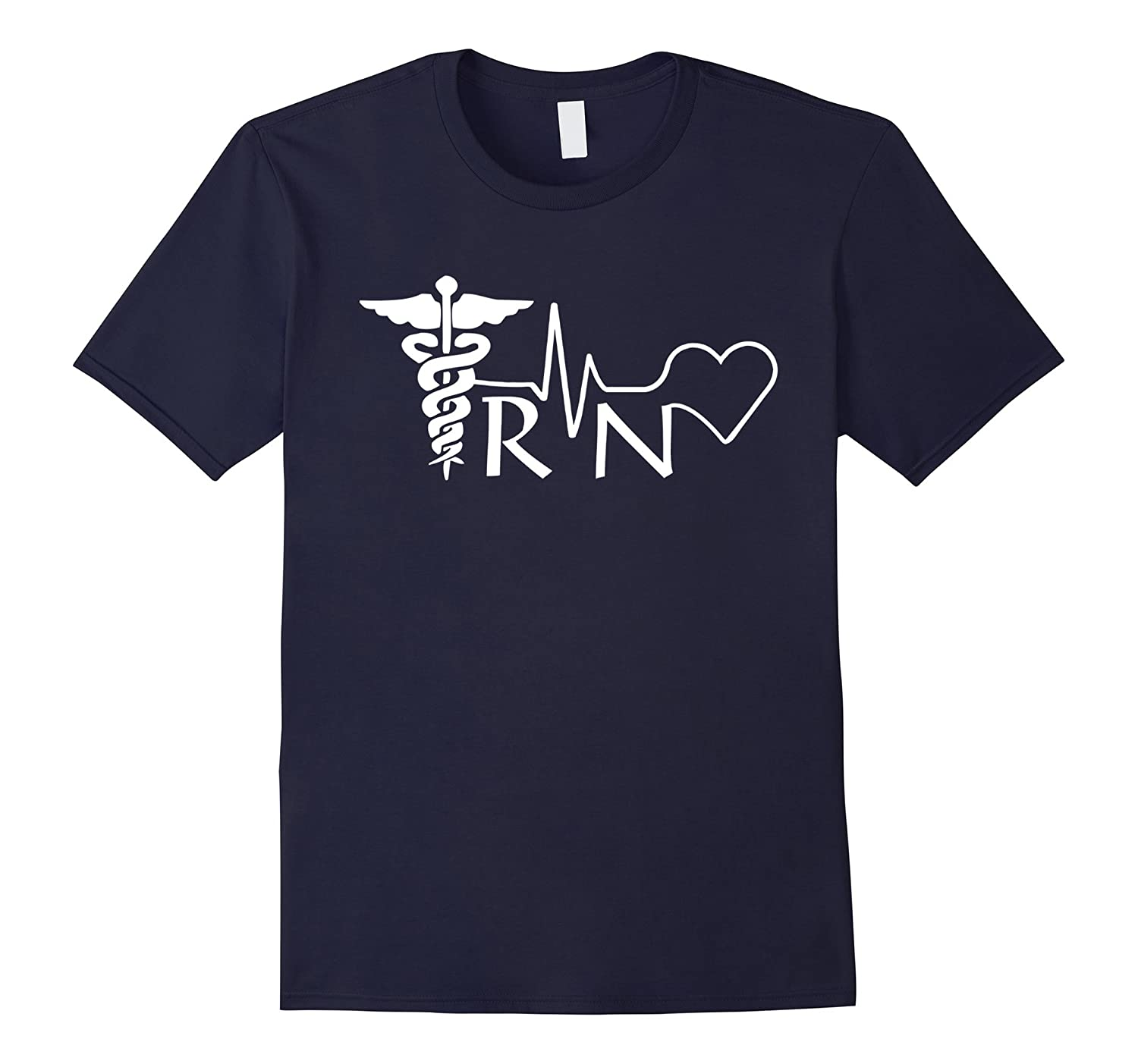 Nurse RN Heartbeat T Shirt Heather-Tovacu