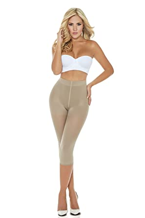 0c4427e679 Fajas Colombianas Light Body Shaper Thermal Long Panty Shapewear Women Beige