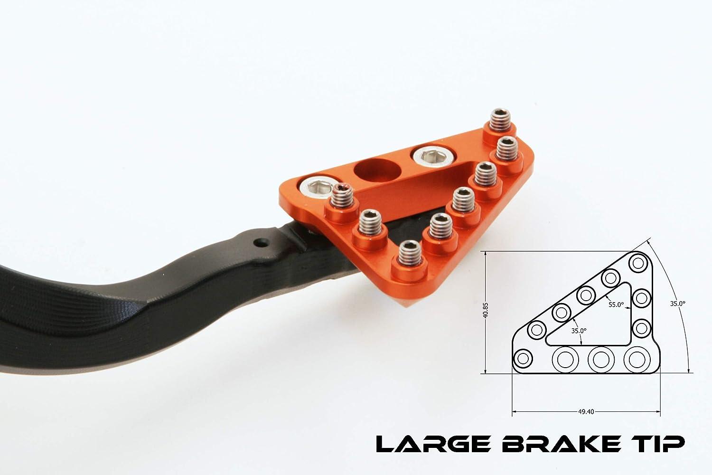 - 12-0563-20-40 Hammerhead Pedales de Freno Trasero con opciones de punta 2003-2016 Type 1: Compatible con KTM 125-560 dirt bikes