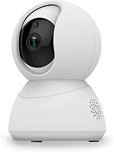 eco4life Wi-Fi 1080p PTZ Security Camera with Smart Night Vision/PTZ/Two-Way Audio, WiFi Home Surveillance IP Camera for Baby/Elder/Pet/Nanny Monitor.24/7 Monitoring, Motion detect