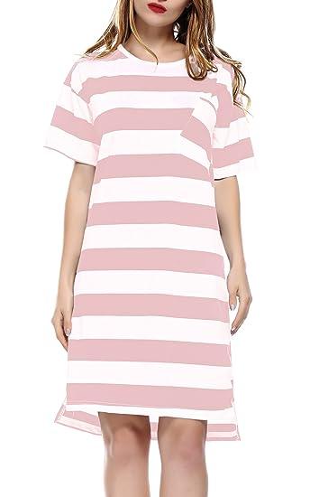 MIOIM Mujer Pijama con Rayes de una sola pieza de frontera desgaste sala de pijamas de