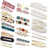 Pearls Hair Clips,28 Pcs Pearls Hair Barrettes Acrylic Resin Sweet Handmade bobby pins Hairpin Headwear Hair Accessories Head