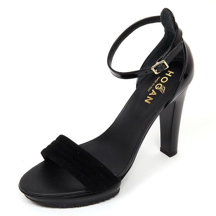 D0566 sandalo donna HOGAN H247 scarpa nero sandal shoe woman