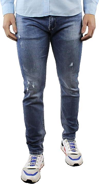 Pantalones Vaqueros Para Hombre Estrechos En El Tobillo Elasticos De Verano Estrechos De Algodon Color Azul Casual 42 44 46 48 50 52 Turquesa 52 Es Amazon Es Ropa Y Accesorios