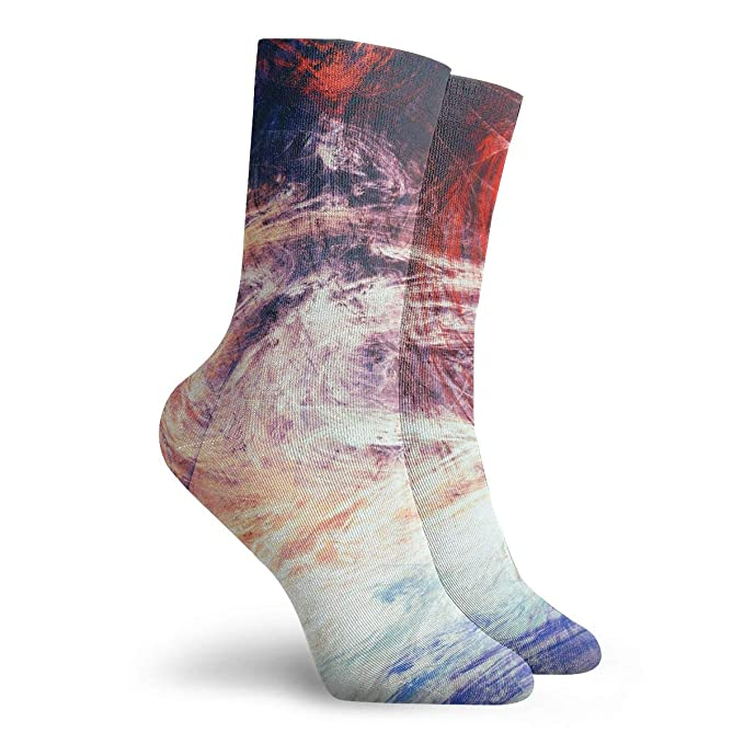 WEEDKEYCAT Bright Artistic Splashes Adult Short Socks Cotton Funny Socks for Mens Womens Yoga Hiking Cycling Running Soccer Sports