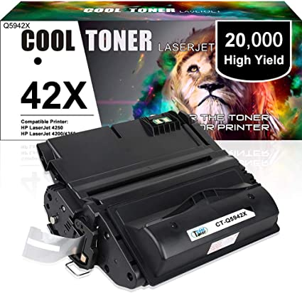 Black,2-Pack AB Volts Compatible MICR Toner Cartridge Replacement for HP Q5942X for Laserjet 4250 4250DTN 4250DTNSL 4250N 4250TN 4350 4350DTN 4350DTNSL 4350N 4350TN