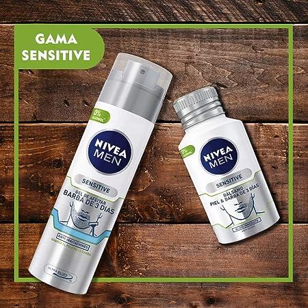 NIVEA MEN Sensitive Bálsamo Piel, bálsamo para barba de 3 días y para la piel del rostro, bálsamo after shave de cuidado facial para un alivio inmediato - 1 x 125 ml