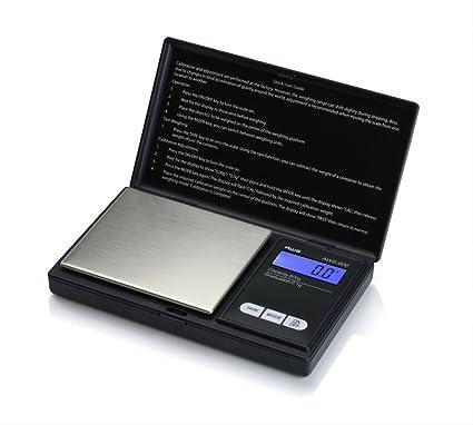 American Weigh Scales AWS-600-BLK - Báscula digital de nutrición personal, tamaño