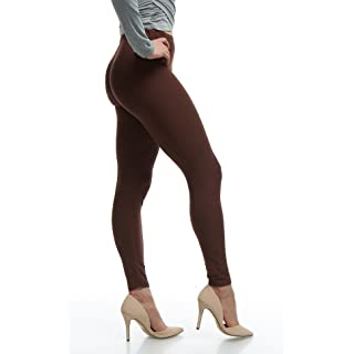 Lush Moda Extra Soft Stretch Pants Leggings - Variety of Colors - Brown