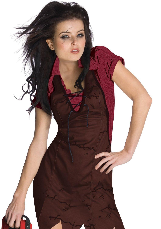 Sexy Mörderin mit Kettensäge Kostüm für Damen Gr. XS-L, Größe:M