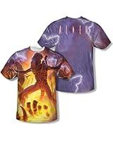 Alien - - Hommes foudre et le feu (Front / Back Imprimer) T-shirt