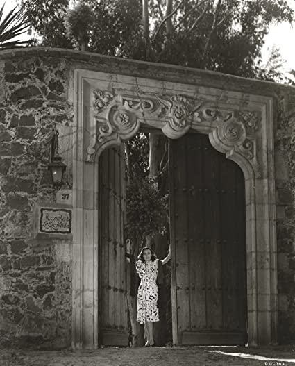 86fdbc07d Image Unavailable. Image not available for. Color  Dolores Del Rio Posed on  a Big Door in Black and White Photo Print ...