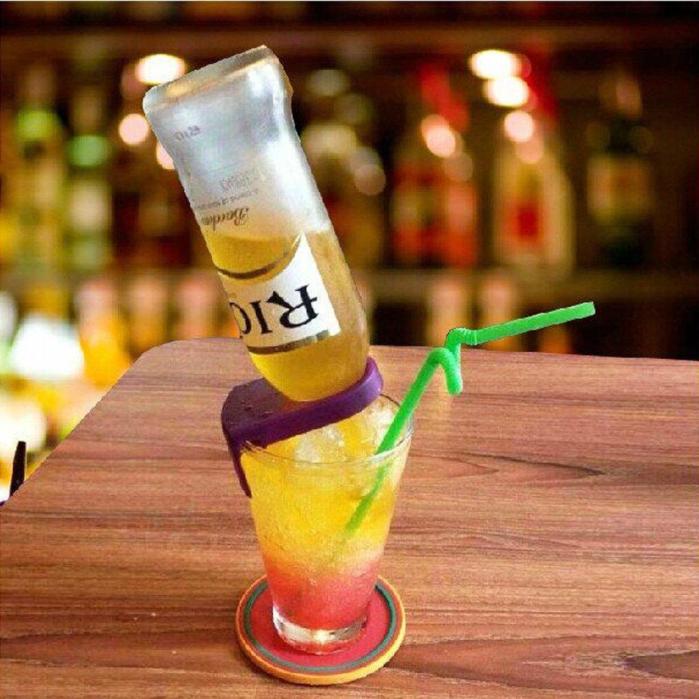 LOHOME Drink Clips for Schooner and Goblet Style Glasses Margarita Glasses Orange//4 PCS by LOHOME