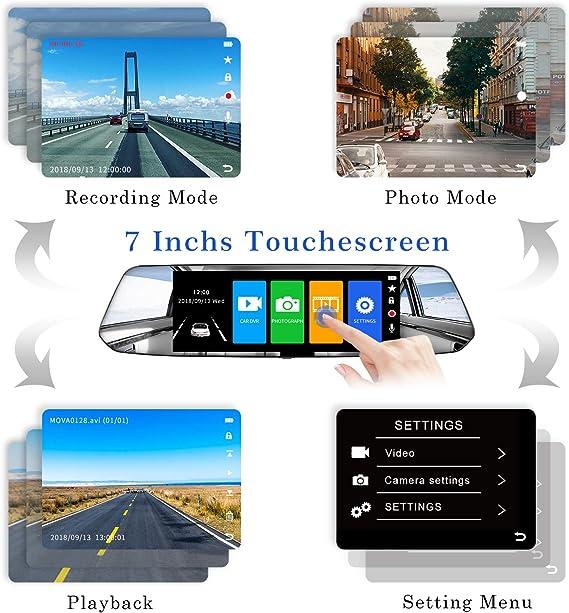 2021 Version Chortau Spiegel Dashcam 7 Zoll Touch Elektronik