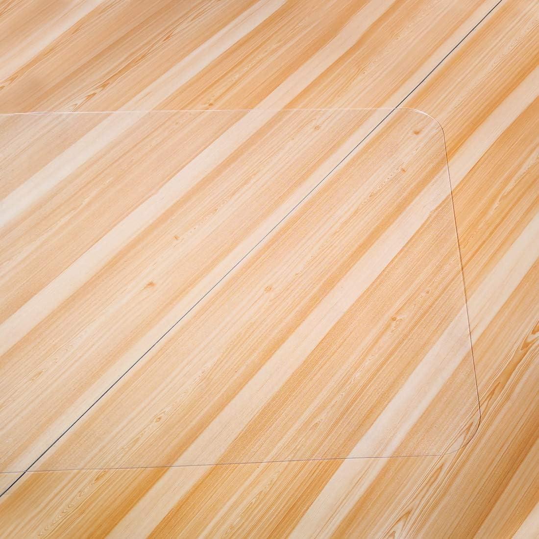 Rectangular Material no reciclable Alta Resistencia al Impacto Antideslizante GIOVARA Alfombrilla Transparente para Silla para Suelos Duros 3x4 90 x 120 cm