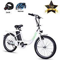 BRIGHT GG NAKTO 22'' Electric Bicycle Commuter Ebike City Electric Bike with 36V 10A Lithium Battery and 250W Rear Hub Motor for Adult