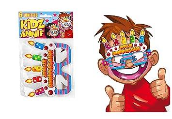 COOLMP - Lote de 3 Gafas de cumpleaños Infantiles - Talla ...