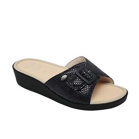 taglia 7 il più grande sconto arrivo Scholl sandali da donna Mango, numero 39, blu navy, con soletta in ...