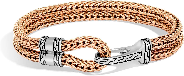 John Hardy Men's Classic Chain Silver Hook Station Bracelet 9mm