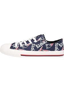 2d5afa78a47 New England Patriots NFL Womens Low Top Repeat Print Canvas Shoe - Size 9