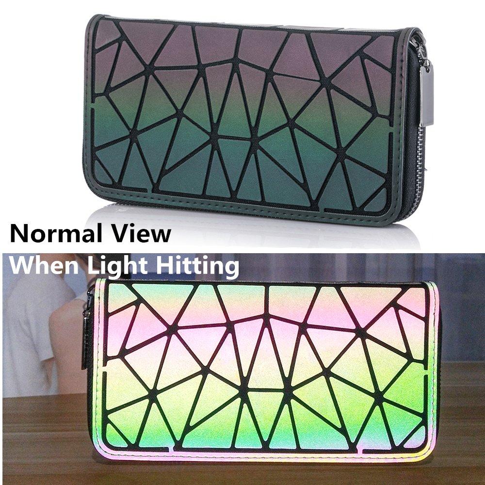 Amazon.com: HotOne Bolso luminoso geométrico de piel con ...