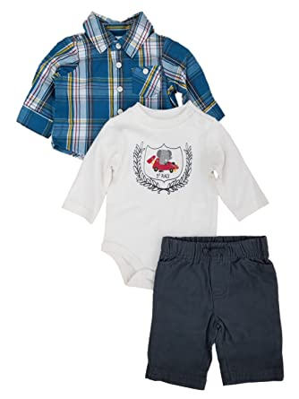 a4eb54118 Amazon.com  Little Wonders Infant Boys 3 Pc Baby Outfit 1st Place ...