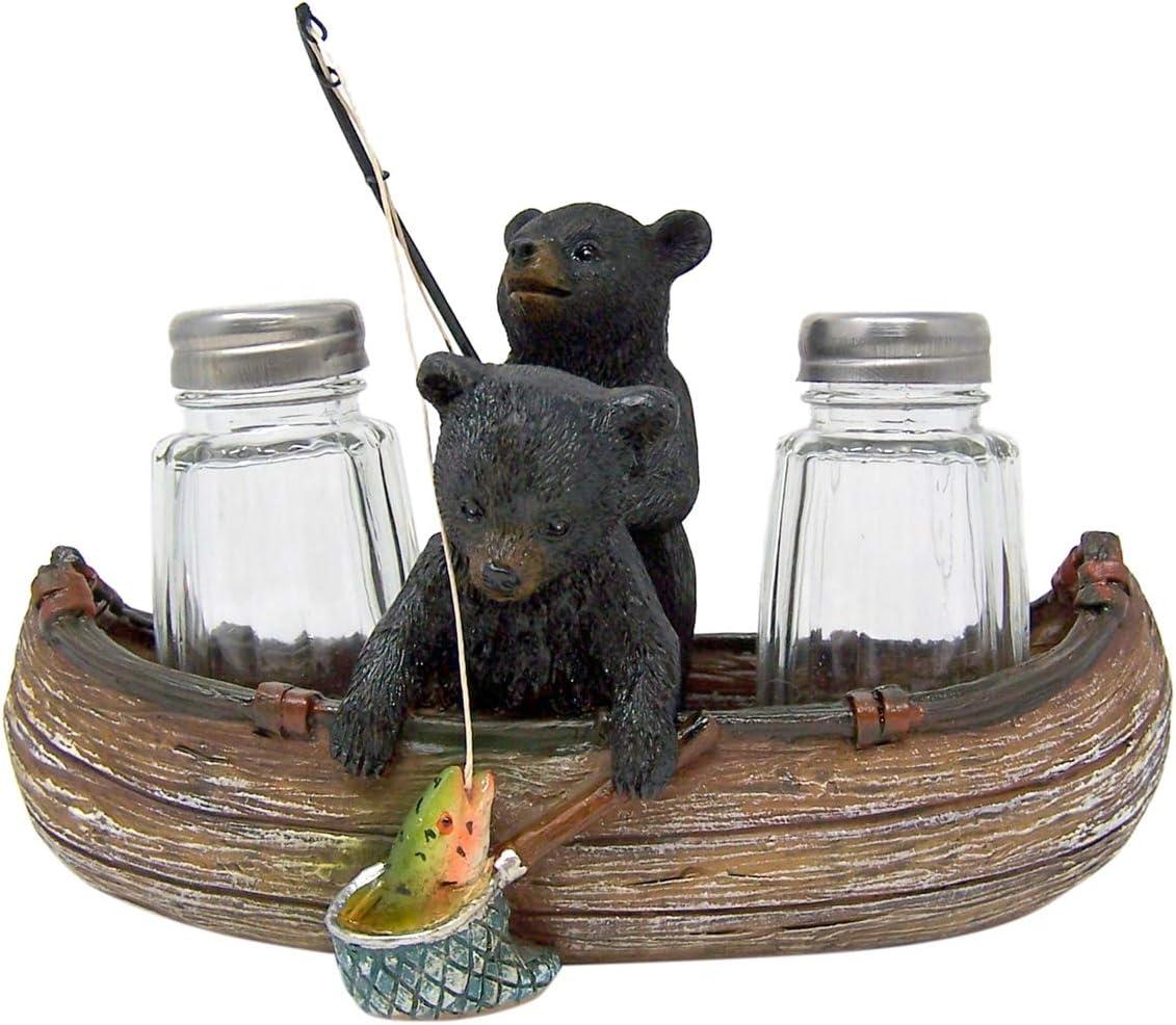 Papa Bear Overseeing Shotgun Wedding Salt and Pepper Shaker Set with Decorati...