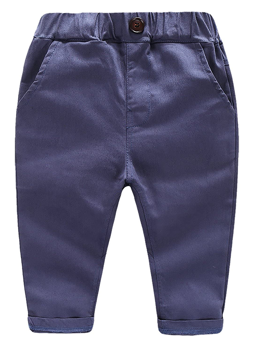BALETONGNIAN Baby Boys Chino Pants Toddler Kids Pants Cotton Joggers Pull On Pants 2Y 6Y
