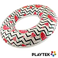 Deals on Playtek Toys Pool Float Tropical Watermelon Inflatable Tube