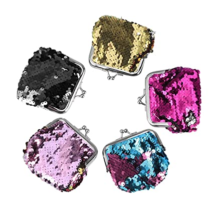 Amazon.com: Toyvian Sequin Coin Purses Sparkly Wallet with ...