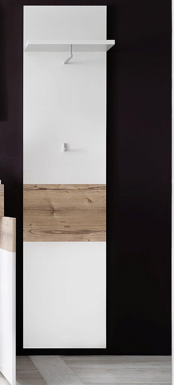 Trendteam Muebles Panel de ropa, Madera, Blanco, 45 x 184 x 24 cm: Amazon.es: Hogar