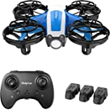 Holyton Mini Drone for Kids Beginners Adults, Hand Operated/Remote Control Quadcopter with 21Mins Flight Time,Auto Hover,Auto