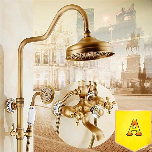 Modylee Badezimmer 3 Funktion Dusche Wasserhahn Dusche Set Messing Antik  Gemacht Dusche Set 8 Zoll Regen