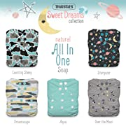 Thirsties Package, Snap Natural One Size All In One, Sweet Dreams
