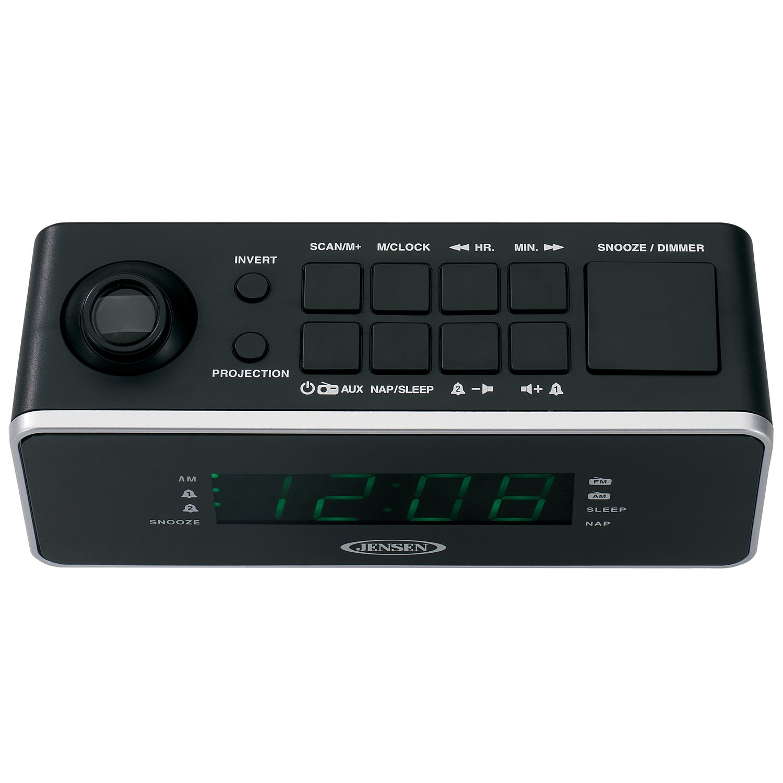 Jensen jcr-235 alarma dual radio reloj con proyección: Amazon.es: Electrónica