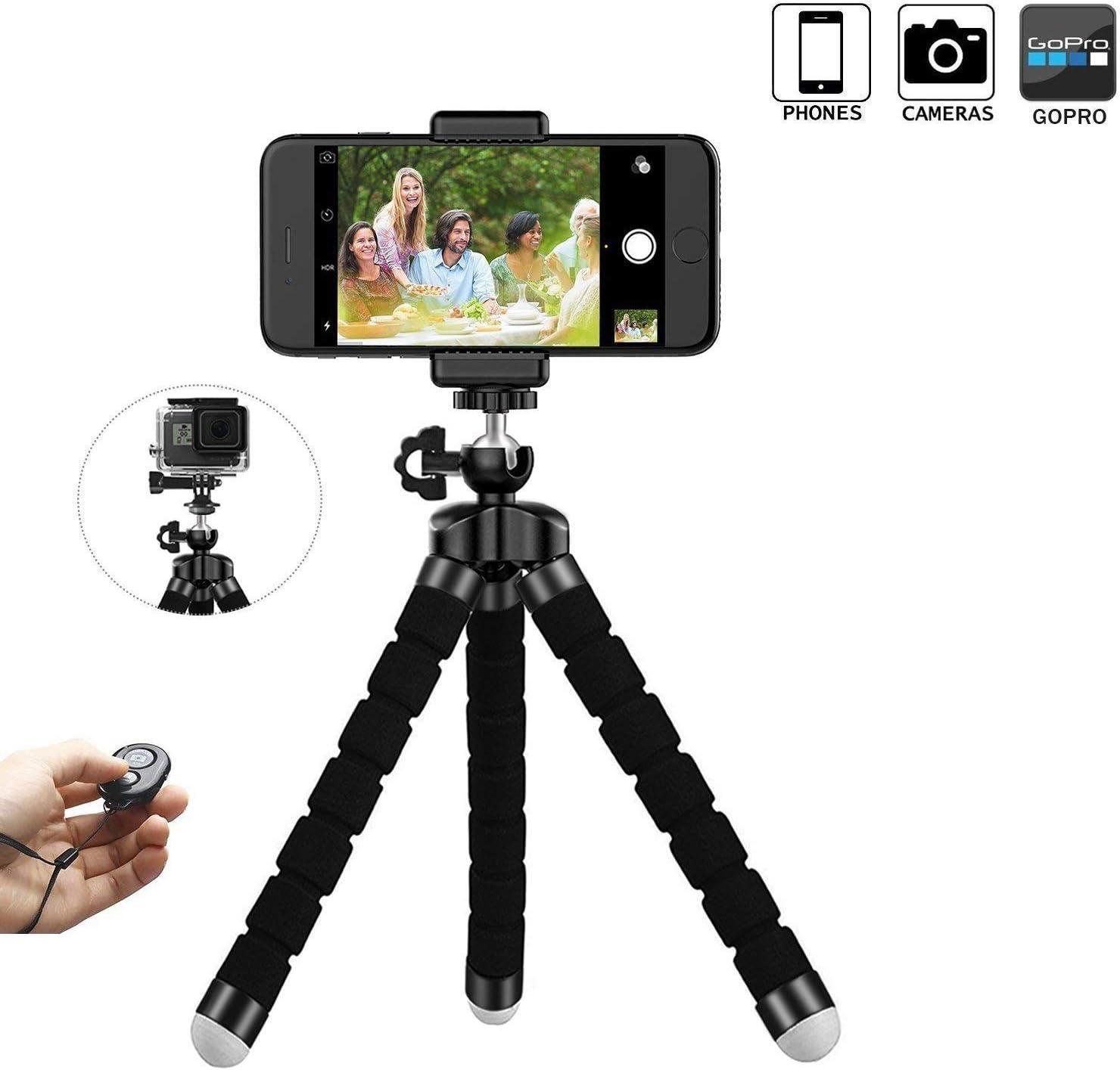 Handy stativ stativ f/ür Smartphone iPhone Stativ Bluetooth Selfie Stick Stativ f/ür iPhone Samsung und Kamera