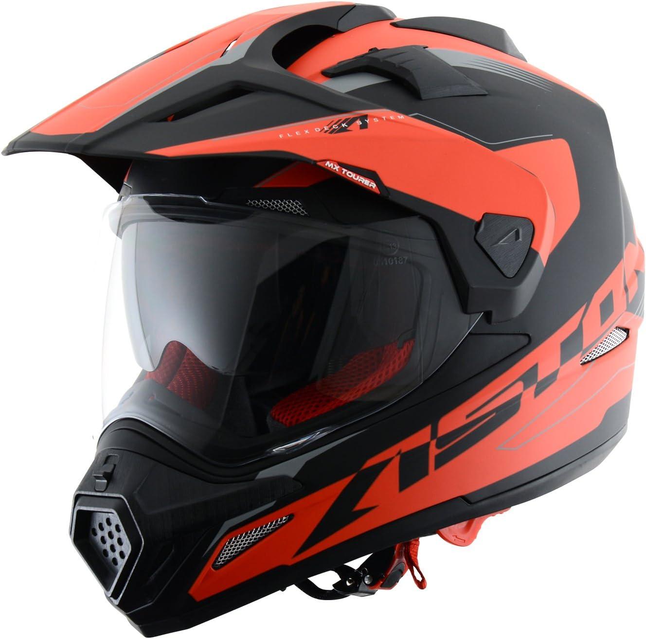 L Astone Helmets tourer-advbrl Kopfh/örer Tourer Adventure Wei/ß//Schwarz