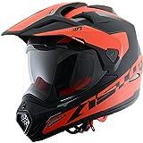 Astone Helmets Casque Tourer Adventure, Rouge/Noir, S