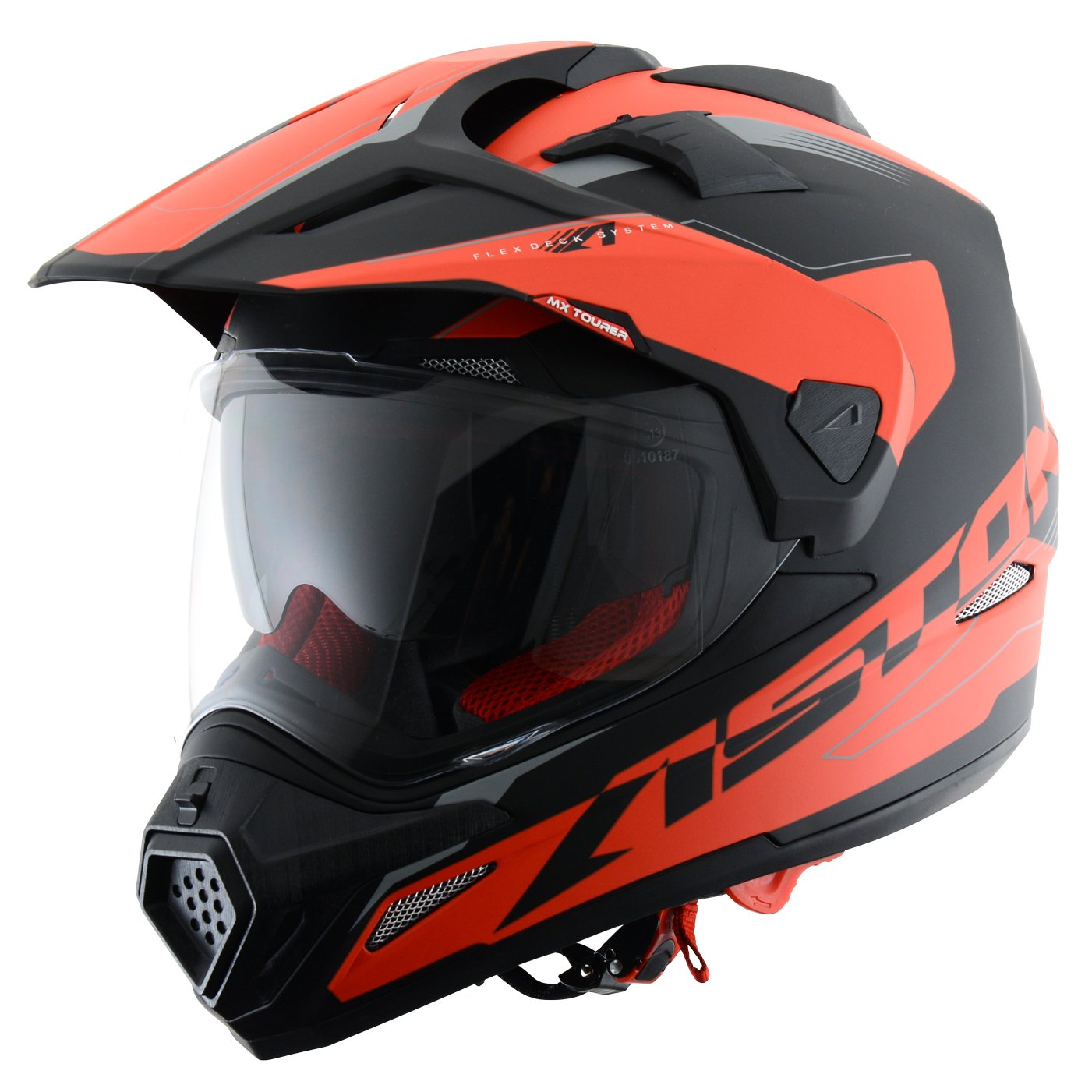Astone Helmets Tourer Adventure, color Rojo, talla M: Amazon.es: Coche y moto