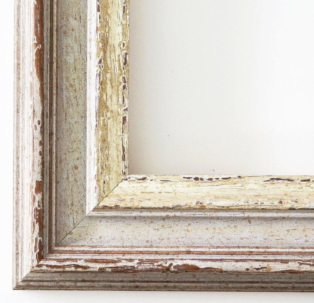 Online Galerie Bingold Bilderrahmen Trento Beige Silber 5,4 - Über 500 Varianten zur Auswahl - alle Größen - 40 x 50 cm - WRP - Antik, Barock