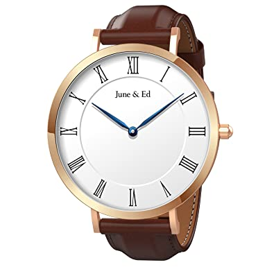 June Ed Quartz Stainless Steel Men s Watch with Sapphire Crystal Dial Window W-0070