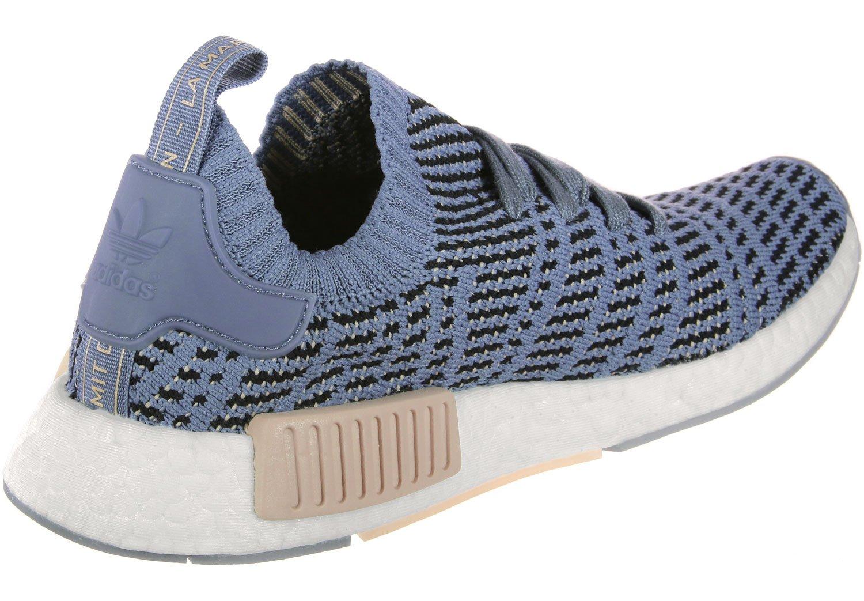 Adidas Damen Blau NMD_r1 Stlt Primeknit Sneaker Blau Damen 92a322
