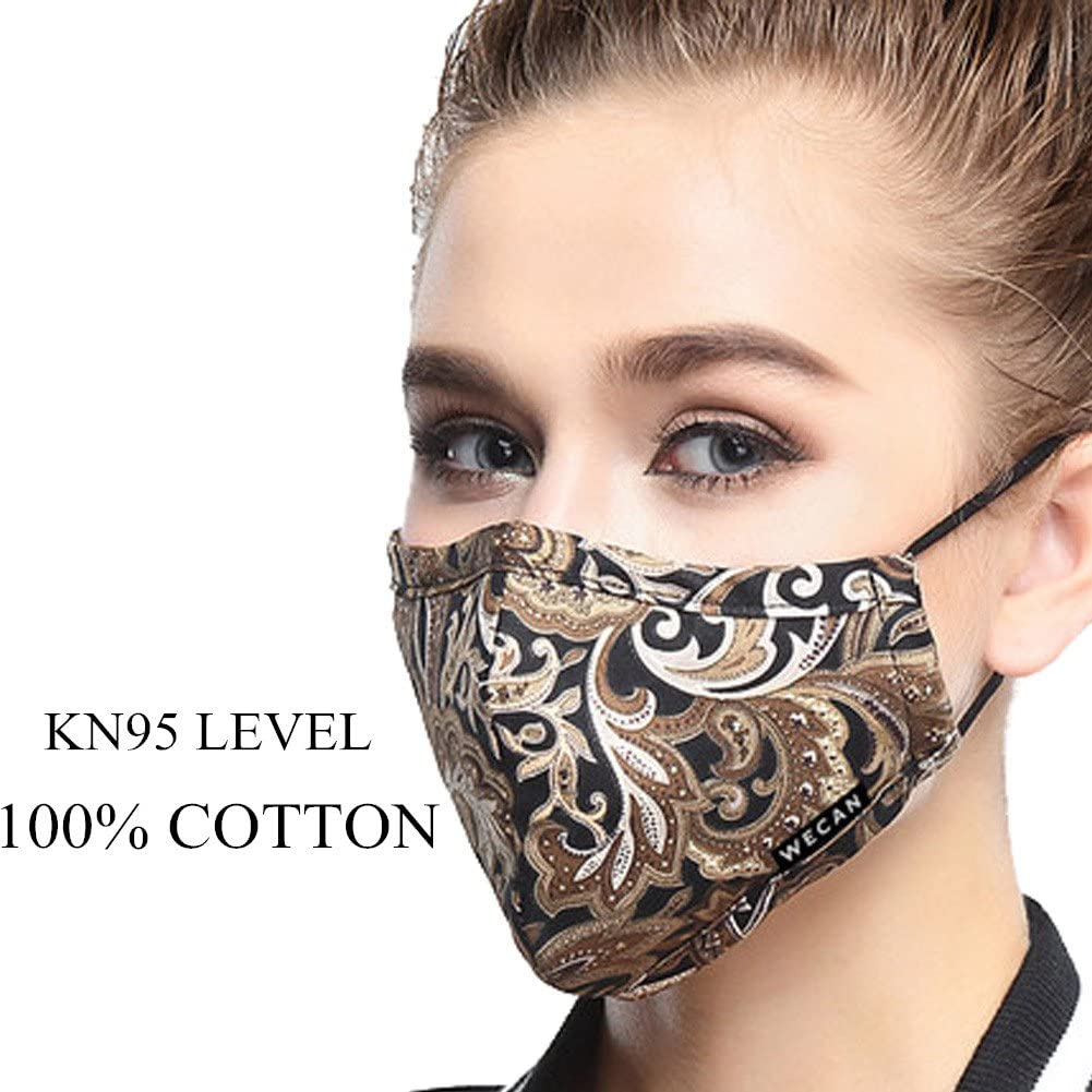 Máscara antipolvo ZWZCYZ N95 PM2.5 con 4 capas de filtro de carbón activado, se puede lavar, reutilizable, máscara de algodón para hombres y mujeres