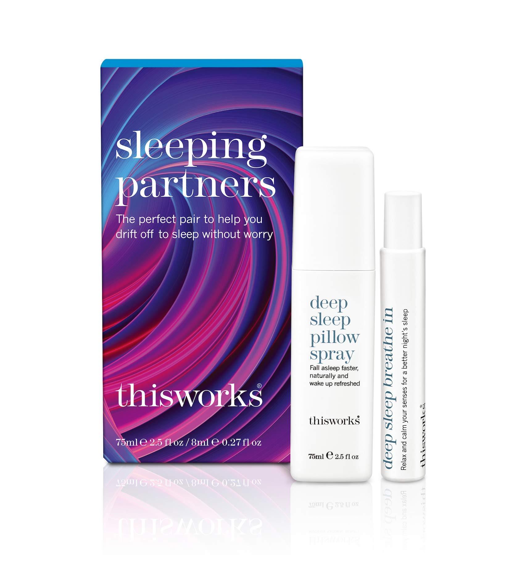 ThisWorks Sleeping Partners Holiday Set: Deep Sleep Pillow Spray 75ml & Deep Sleep Breath In 8ml by This Works