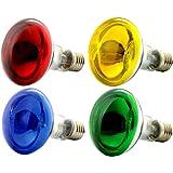 OmniaLaser - Lot de 4ampoules à incandescence colorées, E27, 60W