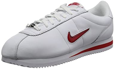 newest 64fbb 04e46 NIKE Men Cortez Basic Jewel Qs White University red Size 10.5 US