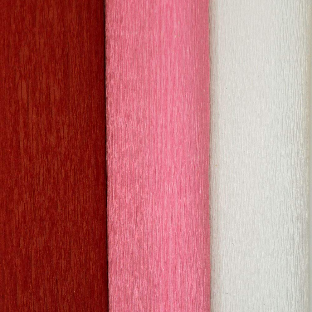 8ft Length//20in Width Just Artifacts Premium Crepe Paper Rolls 5pcs, Color: On Fire