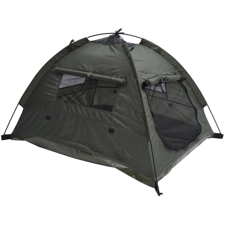 Pawhut Outdoor Camp Pop Up Pet/Dog Camping Tent, 33 x 28