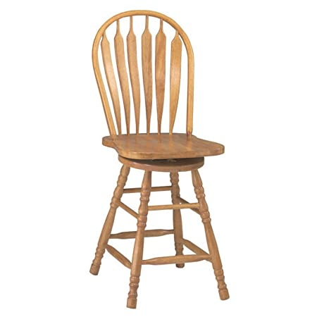 Sunset Trading 24-Inch Comfort Back Swivel Counter Stool